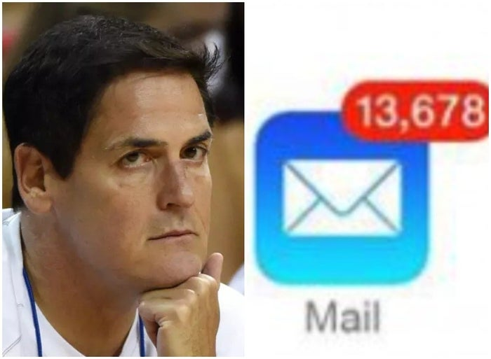 Mark Cuban, a man unburdened by guilt over unanswered emails.
