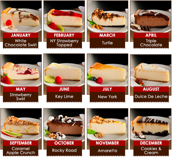 What you get: A nine inch (16 slice) cheesecake the first week of every month, in that month's designated flavor – some of the flavors include NY Strawberry Topped, Triple Chocolate, Turtle, and Key Lime.Why it's cool: We live in a world where you can get a rich cheesecake in an ultra-delish flavor brought to your door every month, what more could you want? You can also choose to get a cheesecake every other month with this subscription, pretttty cool.Get it from Gourmet Gift Baskets for $116.99+ (3, 6, 9, or 12-month prepaid).