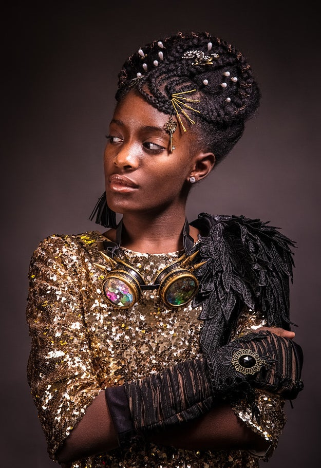 """We loved the idea of contrasting modern Afro hairstyles with the styling and clothing from other periods, like Baroque and Steampunk,"" the couple told BuzzFeed. ""It's something unexpected and out-of-the-box from the usual imagery seen during those eras."""