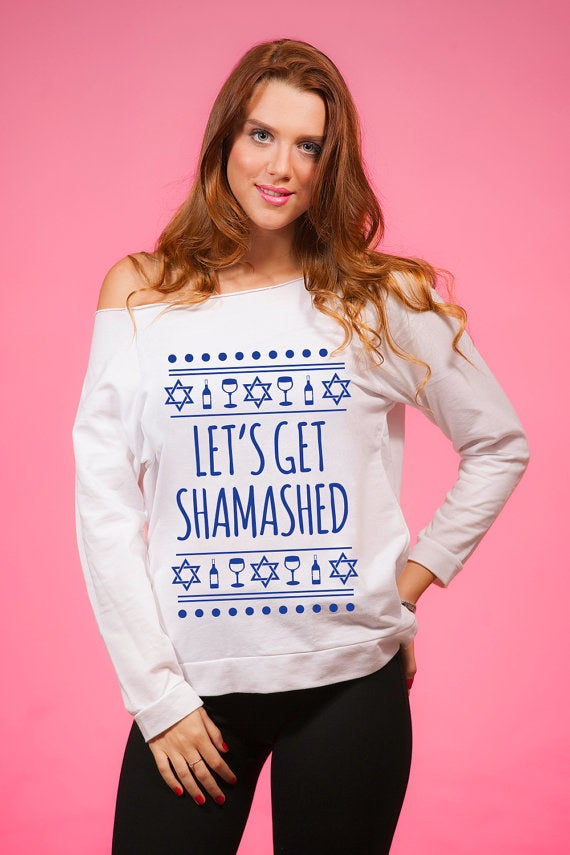 *The shamash is the candle on the menorah that gets lit first every night of Hanukkah and is used to light the other candles.Get it from The Workout Princess on Etsy for $24.99+ (sizes S–2XL).