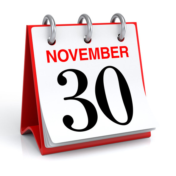 November 30th (pictured below) is an important day for many reasons.