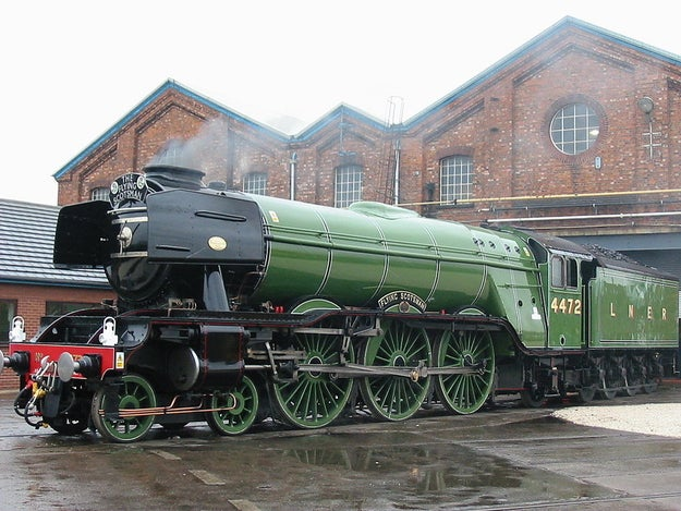 It was the day the LNER Class A3 4472 Flying Scotsman train finally reached 100 mph, becoming the first of its kind.