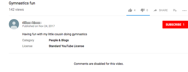 Shortly after the video was flagged for review, the video's comments were disabled.