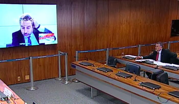 Tacla Duran no telão da CPI