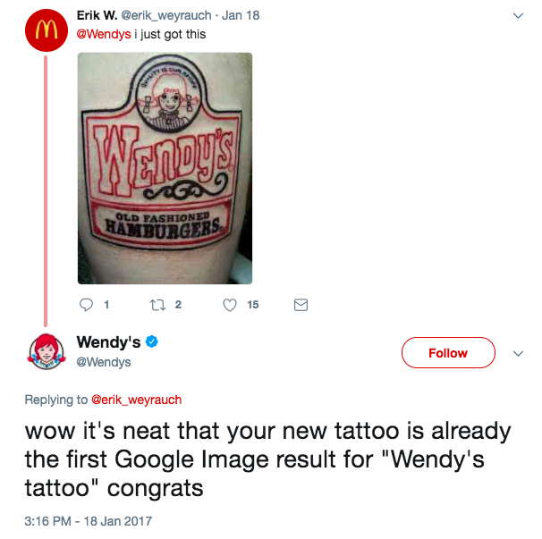 The Wendy's fan: