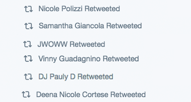 Which was then retweeted by every single member of the cast*.