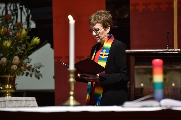 Churchgoers Sang A Gay-Friendly Hymn To Drown Out Anti-Marriage Equality Protesters