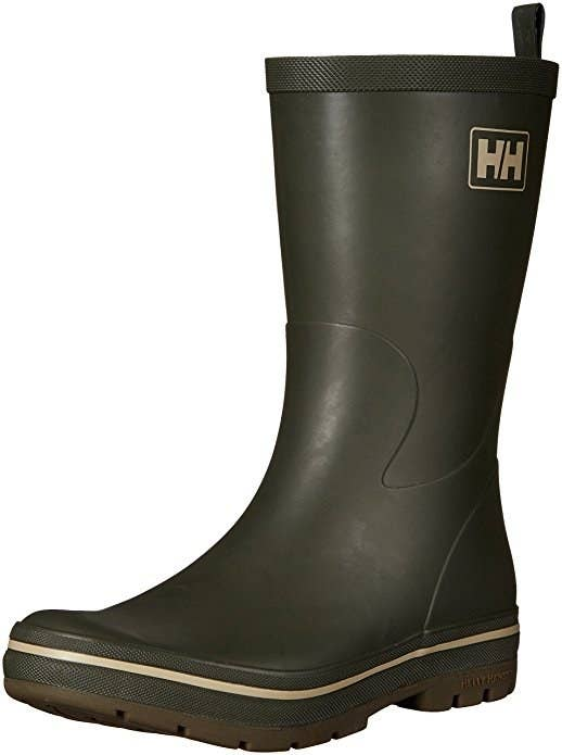 72b35405e77 Wear these two-tone men s boots over jeans to make the best of sneaky deep  puddles.