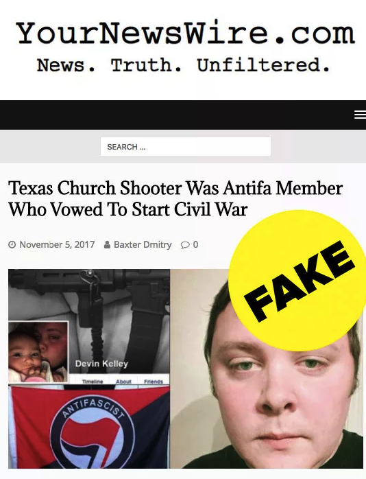 One of the first websites to write about the false narrative was YourNewsWire.com, which is known to spread conspiracy theories and misinformation.