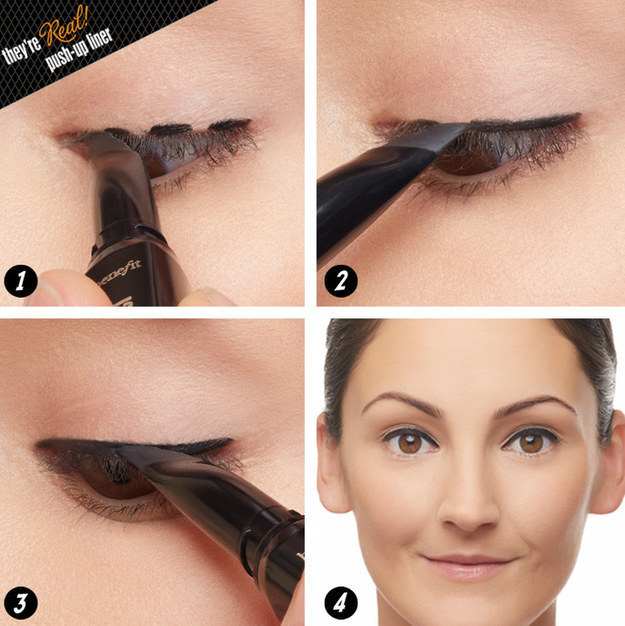 OR, maybe you finally figured out how to get straight eyeliner by making several little dots or dashes first, then connecting them.