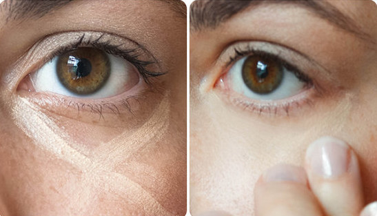 Do you get perfectly blended under-eye concealer by making an