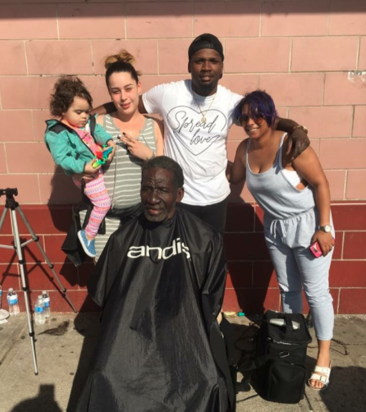 """Me personally, I think I surpassed a thousand haircuts, so many I stopped counting,"" Jones said to local news station FOX29. He's even carried his mission outside of Philadelphia to places like Camden, NJ, which is ""home to the fourth highest rate of homelessness"" in the state."