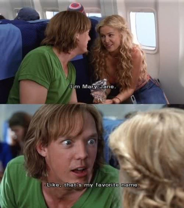 "Shaggy's favorite ""name"":"