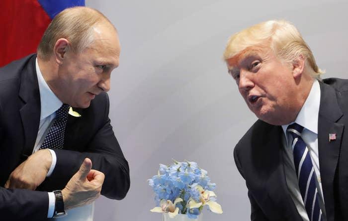 Donald Trump and Vladimir Putin last met on July 7, 2017.