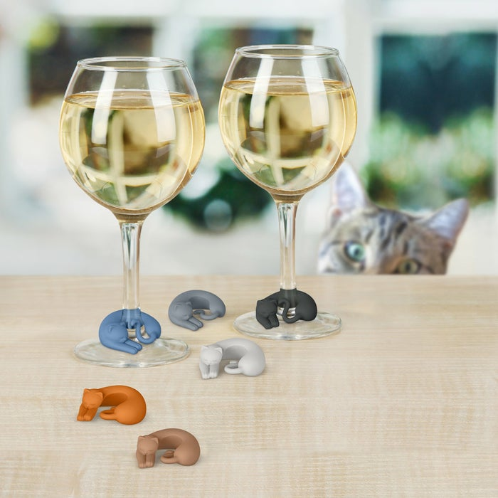 """Promising review: """"How many times have you been at an event or gathering and wondered, is that my wine glass? Well fret no more! These cute little drink markers take away the guessing element, especially as the night goes on and you've had a few. We've all been there and while some may say, they're totally unnecessary, I can attest that they certainly come in handy! """" — PeepchickGet them from Amazon for $9.99 (available in five designs)."""