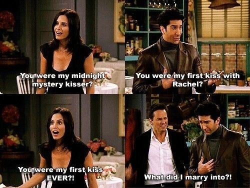 When Ross was Monica's first kiss