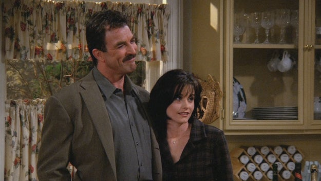 Monica dating Richard (her dad's best friend) and then kissing his son