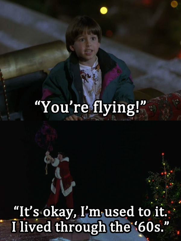 Santa's reference to a ~higher time~: