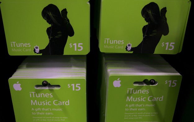 Basically asking for just iTunes Music Cards for birthdays and holidays.
