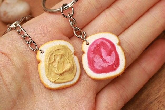 A pair of PB&J keychains so you can gift one to your BFF. Your other friends may get ~jelly~, but you can't be ~buttered~ with pleasing everyone.