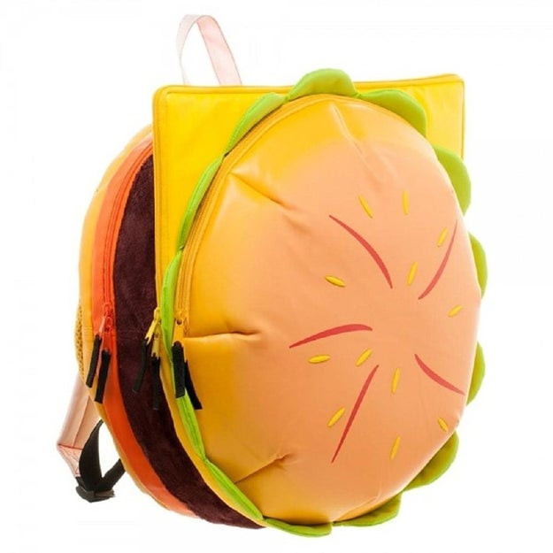 A hamburger backpack Steven Universe would approve of. Give yourself a ~patty~ on the back for finding this gem!