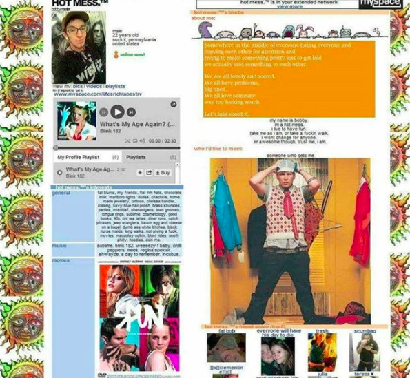 Of course, you had to also customize your Myspace profile to make sure it captured your completely emo aesthetic.