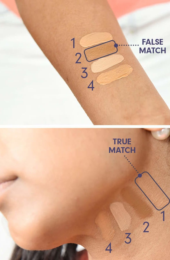 Do you test foundation on your neck instead of your arm to get a better impression of the color?