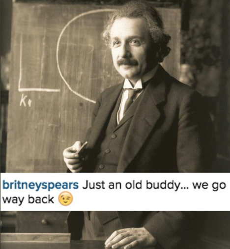Have I mentioned that she's also old friends with Albert Einstein? Because somehow she is!