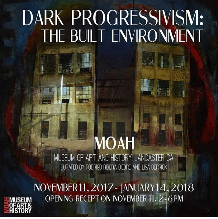 Hollow, by Liz Brizzi forms the background of the flyer image for Dark Progressivism: The Built Environment