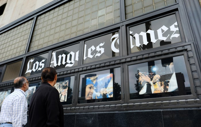 The Los Angeles Times building.