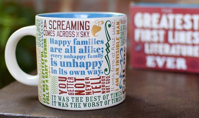 0f9f0841 A coffee mug to combine two of your favorite things: hot, delicious coffee  and classic literature.