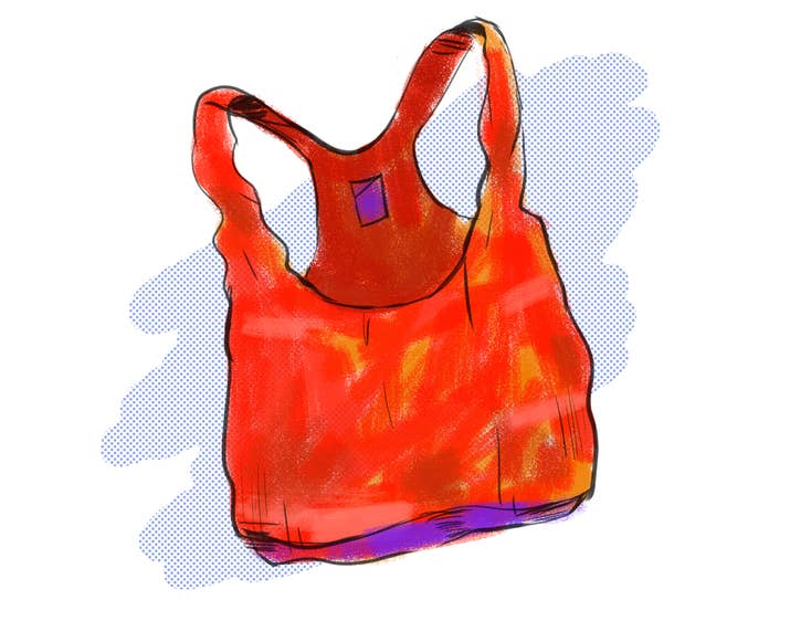 Seinfeld spent an episode convincing viewers that a bra is not a top, but you remain unmoved. On hot days, there is nothing quite like wearing a sports bra and nothing else in the comfort of your own home. Usually, the sports bra in question is stretched out enough that it's useless for anything other than domestic puttering. The support it provides is incidental; instead, you wear it because it's comfortable and lived in and as close as you can get to wearing nothing at all.Plus, it helps you act out all your Brandi Chastain at the Women's World Cup fantasies. Sometimes, you'll throw on the T-shirt over this sports bra, but for the most part, it's a solo act. Like Chastain, it needs no assist.If you don't wear sports bras, you definitely have some kind of tank top with gaping wide arm holes that is so loose and breezy, it's basically like not wearing anything at all. Bliss.