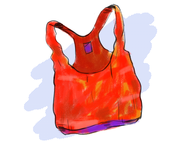 The stretched-out sports bra and/or tank top.