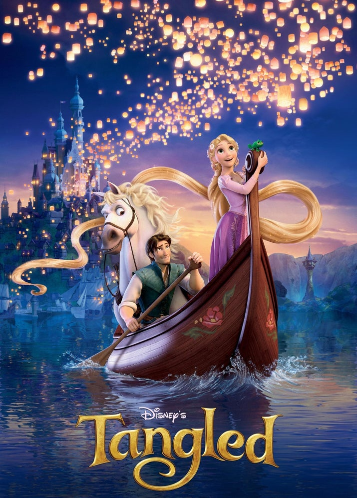 Disney's story of Rapunzel has over 327,000 votes that earned it a 7.8, and a spot in the top five.