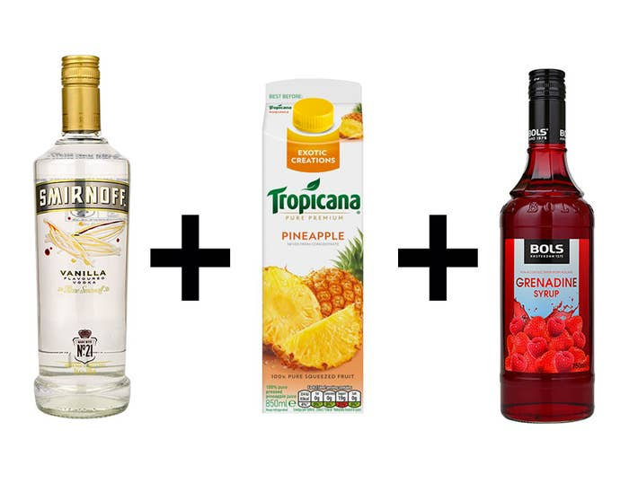 Vanilla Vodka Pineapple Juice Grenadine