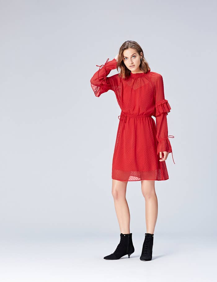 Starting off the party season with a more casual but still kind of dressy event? This baby from find. is perfect for those in-between evenings. Pair with some black boots (flats or heels) and simple gold accessories to really nail the look. Price: £39 Sizes: 8–20