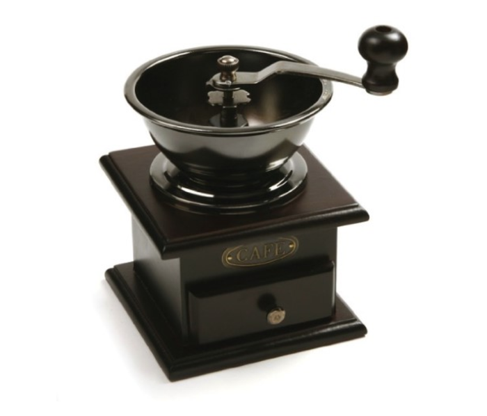 If you're feeling rustic, this old-school coffee grinder is a great way to get your morning fix. Adjustable settings offer a fine to coarse grind, plus the warm chestnut finish adds sophistication to an already great conversation starter. Get it here.
