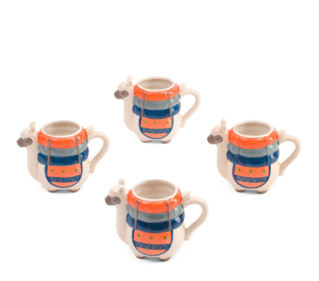 Boston Warehouse Trading Company 4-Piece Llama Mugs - $19.99