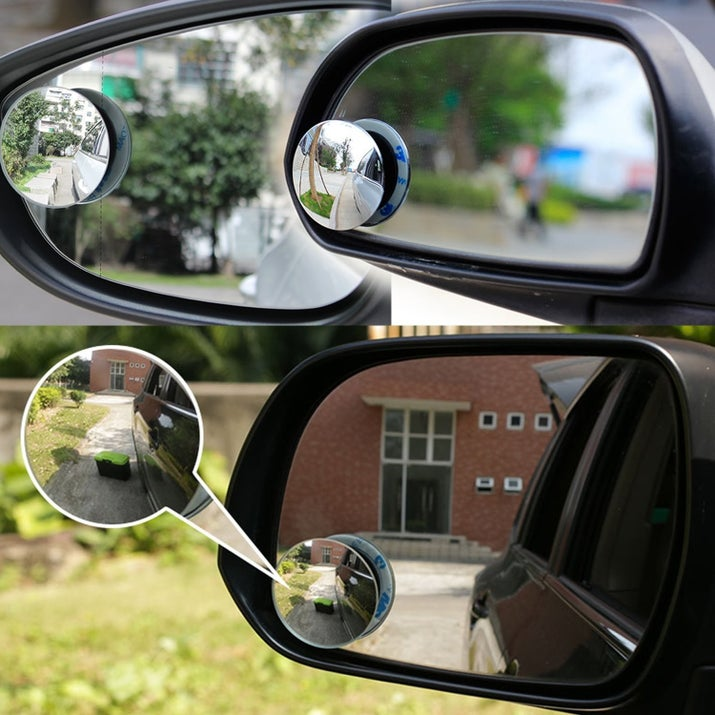 "Promising review: ""I looked at most of the blind spot mirrors on Amazon and settled on this one. I really like that the mirror is low profile and doesn't have a border around it. It is good quality with no flaws. Once installed it looks like it was meant to be there and doesn't stick out like a sore thumb. It is also tiltable in all directions which was absolutely a requirement. If it is not adjustable, then most of your view will be of the side of your car."" — AndrewGet it from Amazon for $7.49."