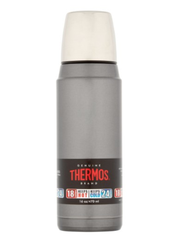 16-oz. Thermos Genuine Brand Vacuum-Insulated Stainless Steel Bottle - $18