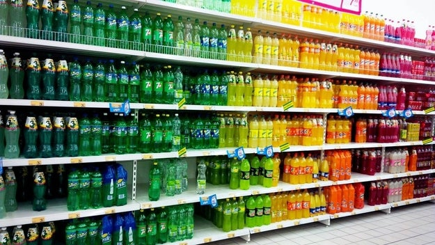 This color-coordinated bottle display: