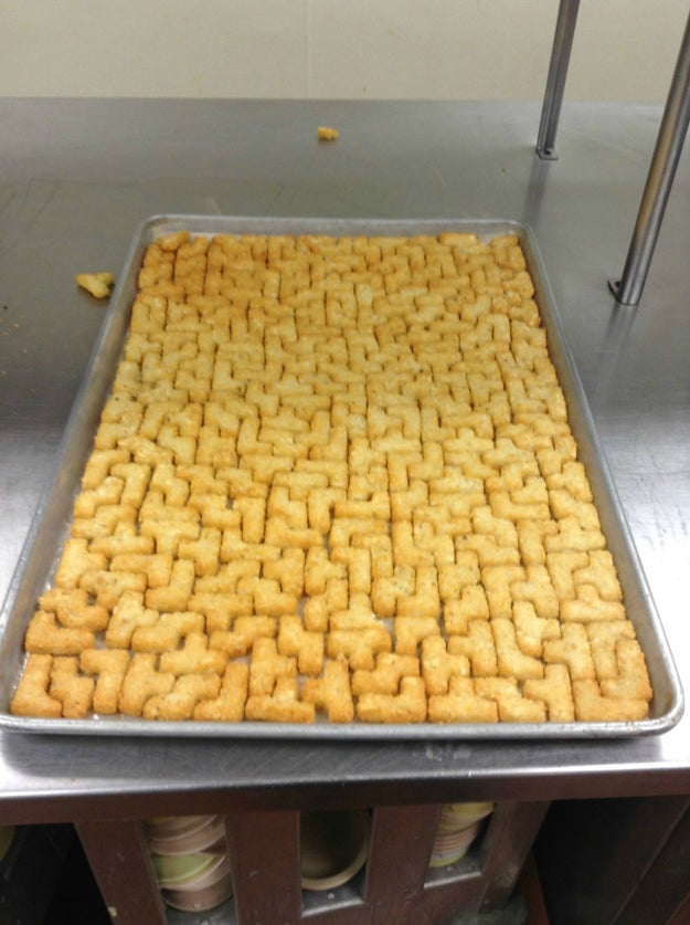 These Tetris tater tots: