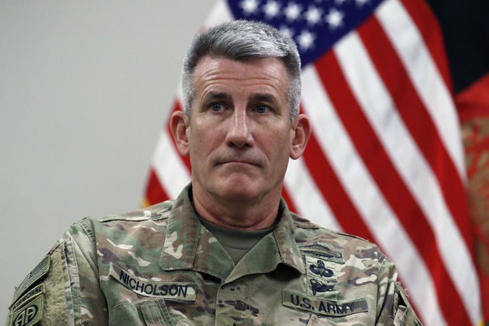 Gen. John Nicholson, commander of US troops in Afghanistan.