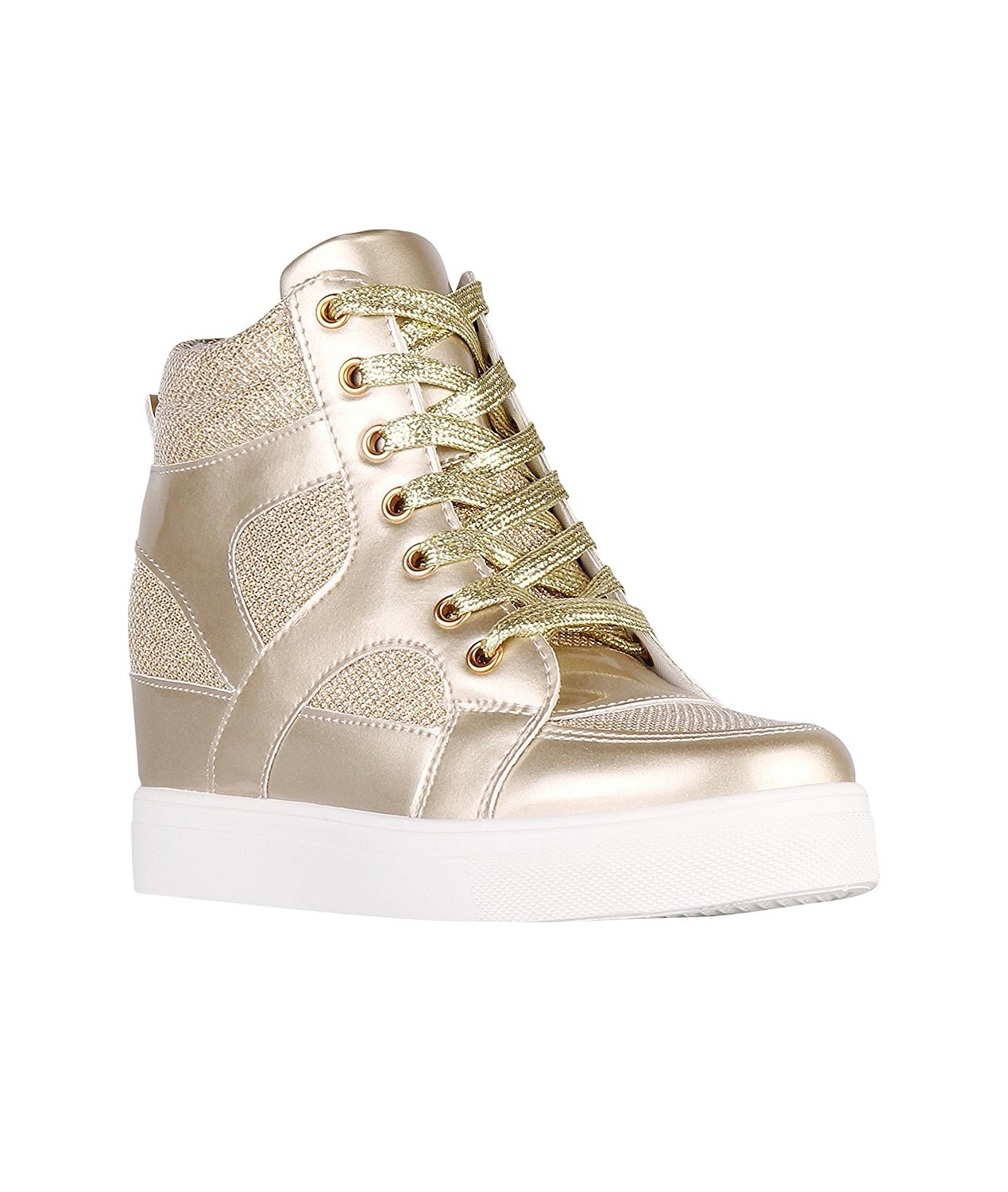 264385da0b09 23. A pair of hidden wedge metallic sneakers for when you don t want to  give up on your high-heel addiction just yet.