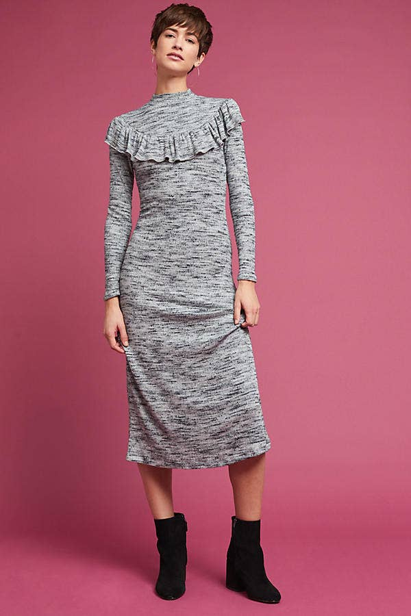1f8dd966b0c A form-fitting sweater dress so comfortable you can dance in it
