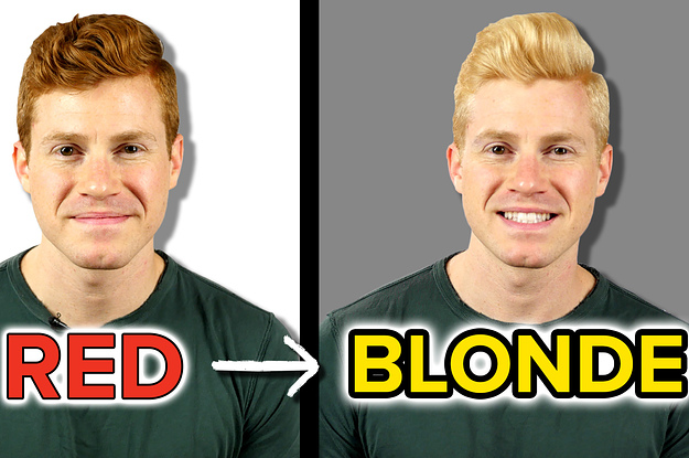 www.buzzfeed.com: This Guy Dyed His Natural Red Hair Blonde For A Week To See What It Was Like