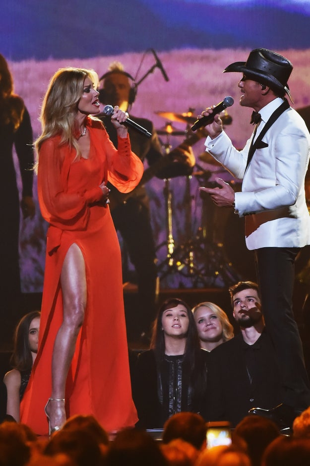 """Anyways, Faith was performing """"The Rest of Our Life"""" alongside Tim McGraw, her hubby of TWENTY YEARS."""