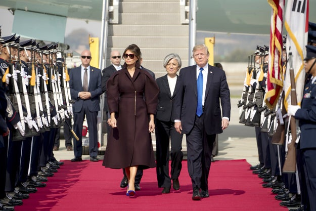 President Donald Trump is currently on his 12-day tour of Asia, and visited South Korea yesterday.