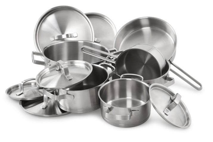"Question: ""Am I supposed to be cooking specific things in specific types of pans? Nonstick, cast-iron, stainless-steel, ceramic ― do I need all of these?"" ―emcduffie916Answer: When choosing the right pan to use, one thing to keep in mind is not to cook acidic foods in aluminum or cast-iron pans ― the combination may cause your food to discolor or taste bad. Instead, use stainless-steel (which Stock prefers for cooking veggies) or enamel pans when cooking acidic foods (such as tomato sauce, soy sauce, or citrus juice). Another thing to keep in mind is the weight of the pan. Generally speaking, heavier pans get hotter and are better suited for searing and recipes that require high heat. ""I use cast-iron pans for cooking proteins,"" says Stock, ""they get super hot, and a well-seasoned pan adds great flavor.""Check out even more tips for picking the right pan here."