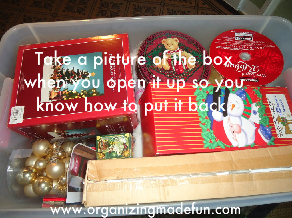 You'll thank yourself come January! From Organizing Made Fun.